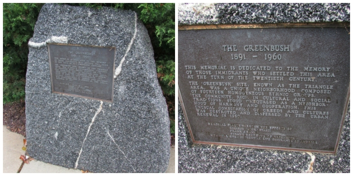Greenbush plaque on rock