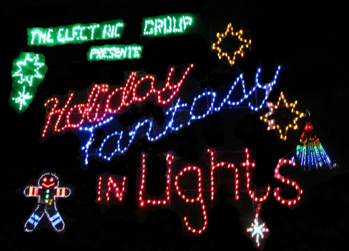 Holiday Fantasy in Lights Sign 800