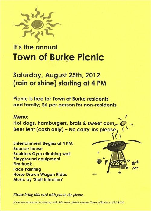 Burke Picnic flyer