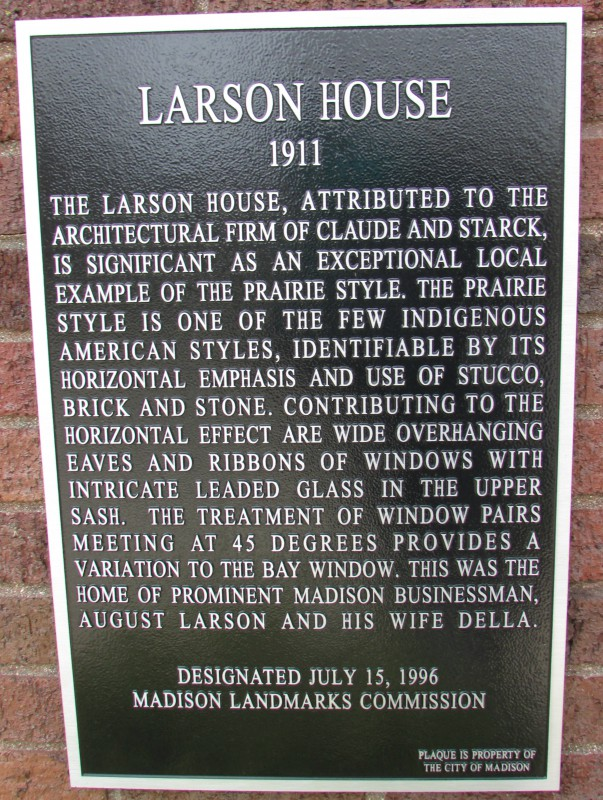Larson House Plaque