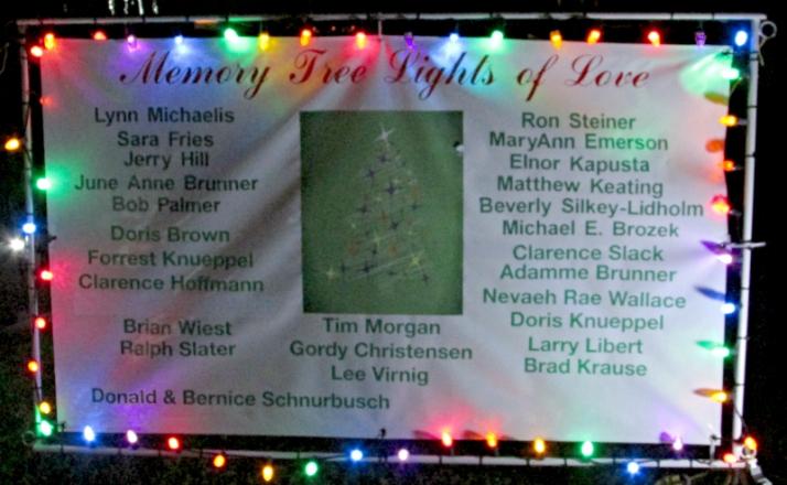 Memory Tree Sign 2015