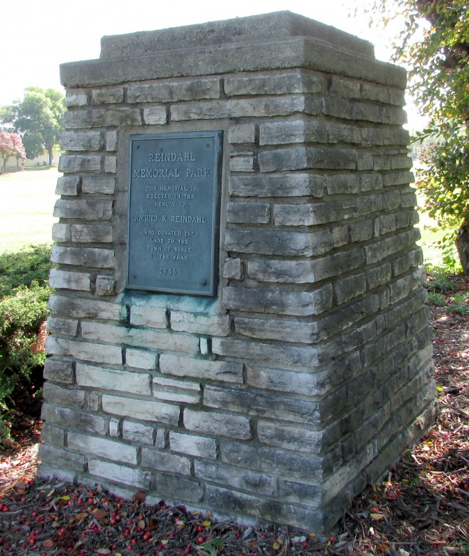 Reindahl Memorial Park monument in Madison