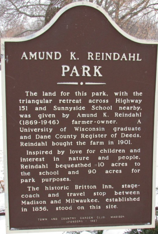 Reindahl Park marker in Madison