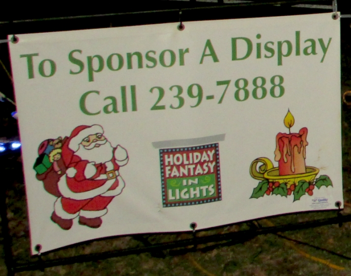 Sponsor a display sign