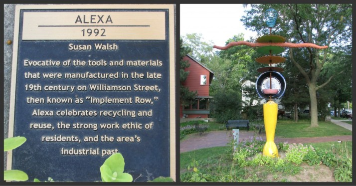 Alexa Sculpture and plaque on WIlly