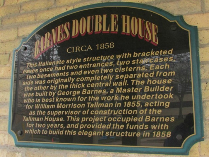 Barnes Double House Plaque IMG_9171