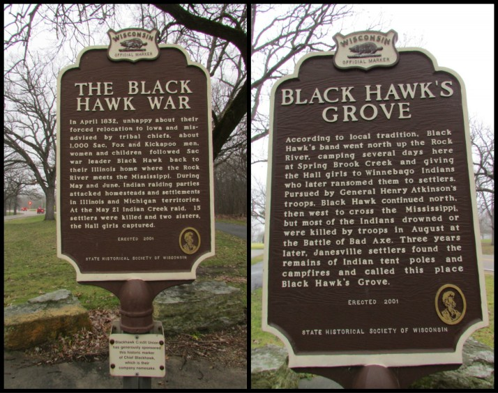 Black Hawk Marker in Janesville