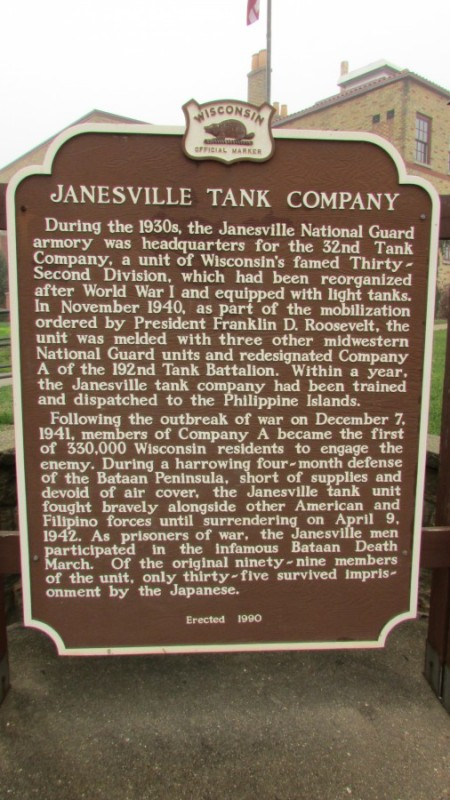 Janesville Tank Company marker