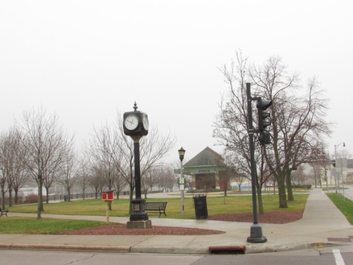 Clock and Depot in Janesville