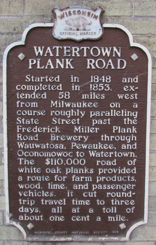 Plank Road Historic Marker at Brewery