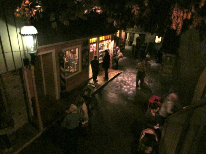 Balcony view of candy store