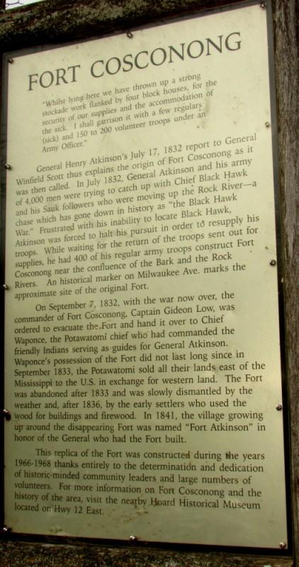 Fort Koshkonong History