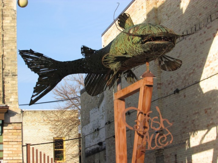 Catfish Alley art in Fort Atkinson