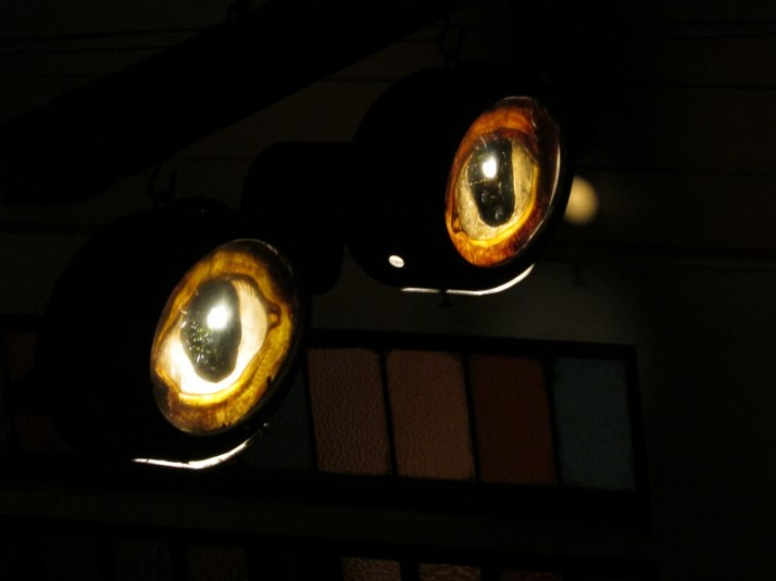 Eye sign at Public Museum