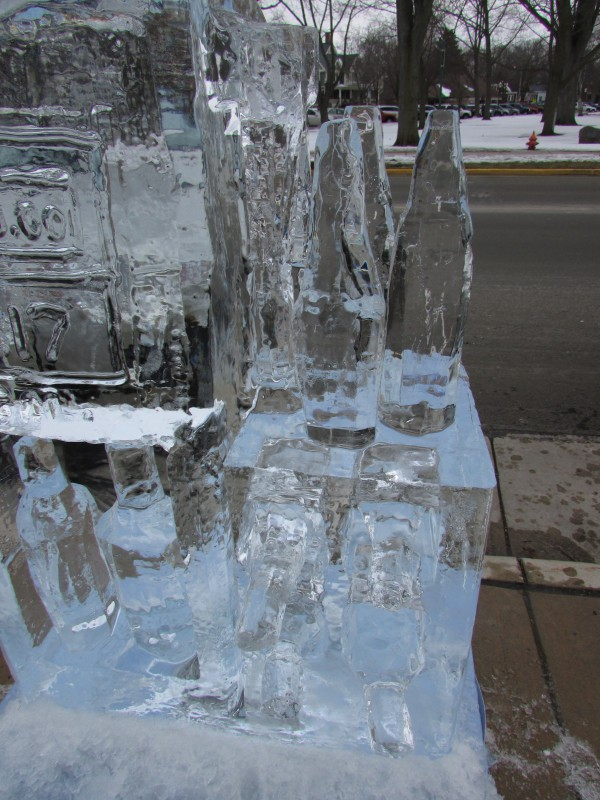 Ice Wine bottle in Lake Mills
