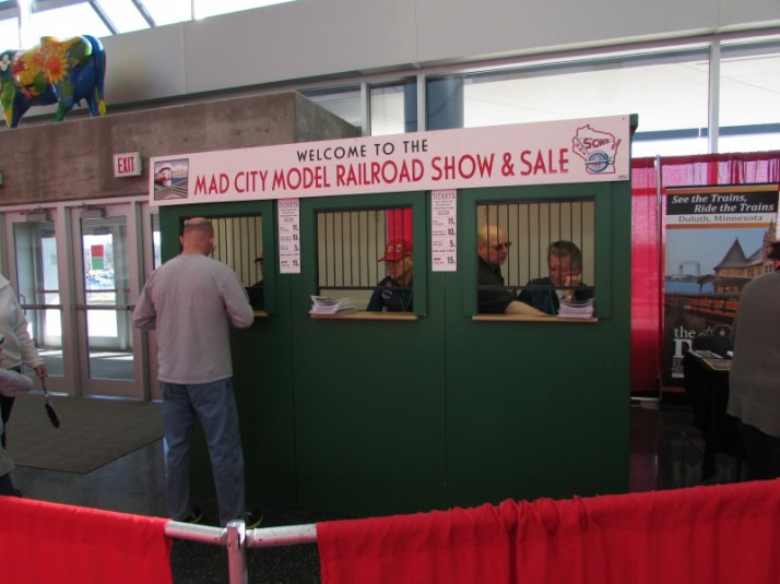 Ticket Booth at Model railroad show