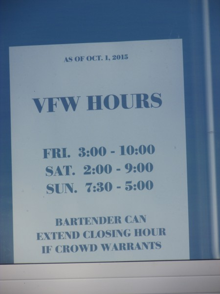 VFW Hours in Fort Atkinson