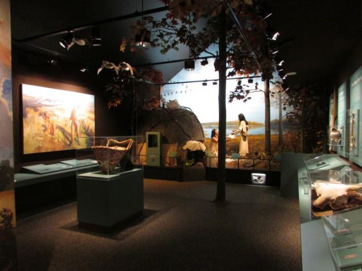 Indian Diorama at Mound Museum