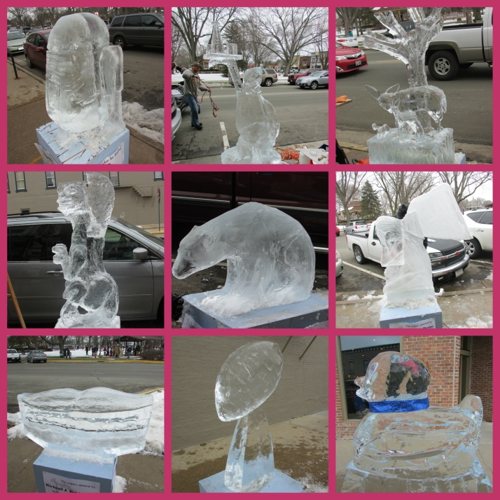 Knickerbocker Ice Sculptures Collage