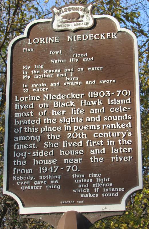 Lorine Niedecker marker