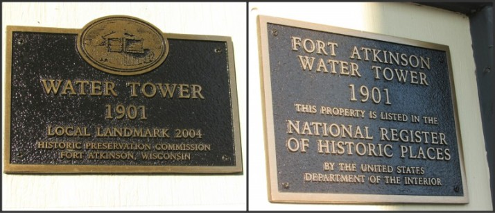 Water Tower Markers in Ft. Atkinson