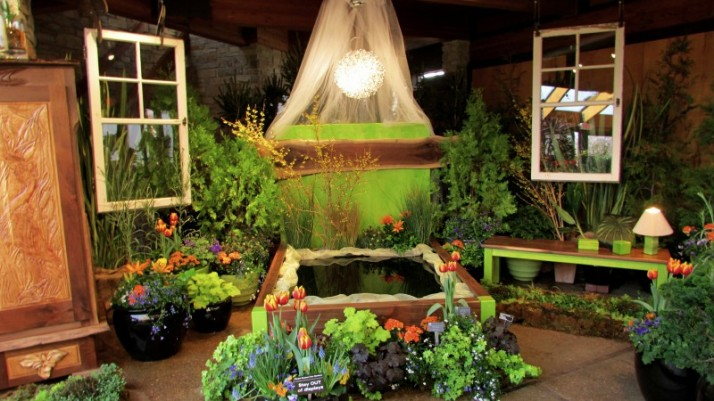 Flower Show Pond display
