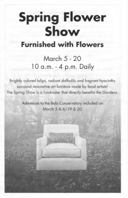 Olbrich Flower Show program