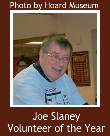 Hoard Museum Volunteer of the Year Joe Slaney frame