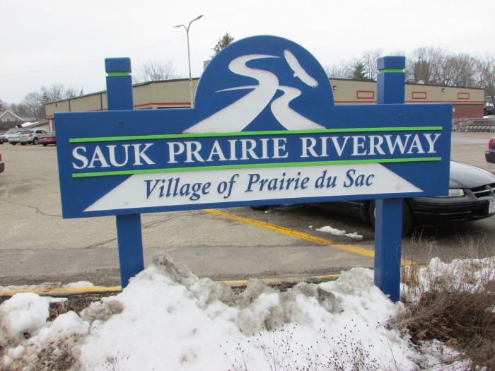 Sauk Prairie Riverway sign