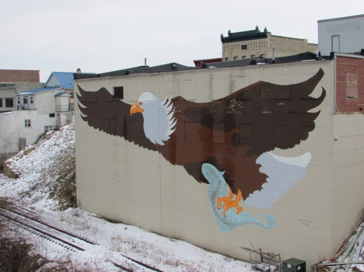Eagle Mural in Prairie du Sac