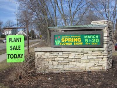 Spring Flower Show sign