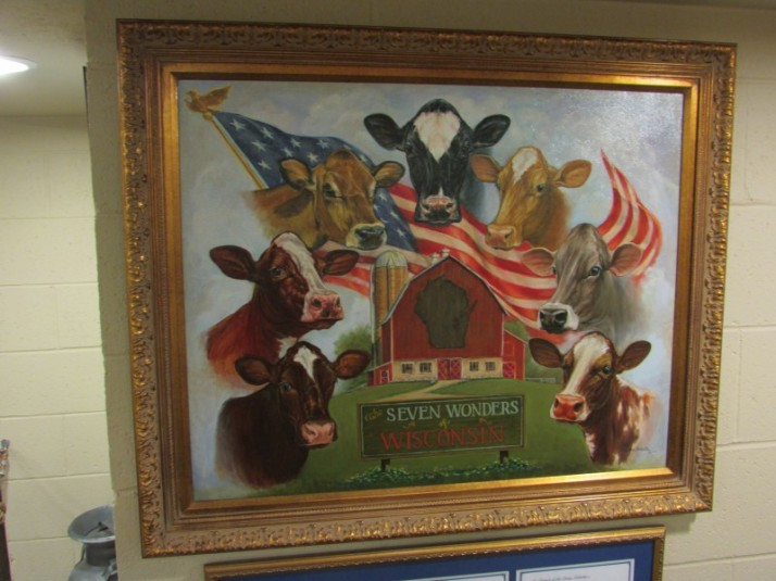 & Wonders of Wisconsin cow painting