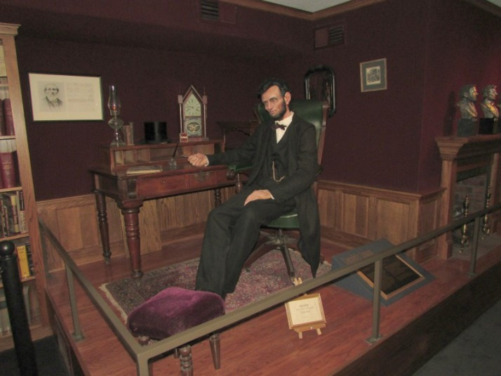 Lincoln display at Hoard House