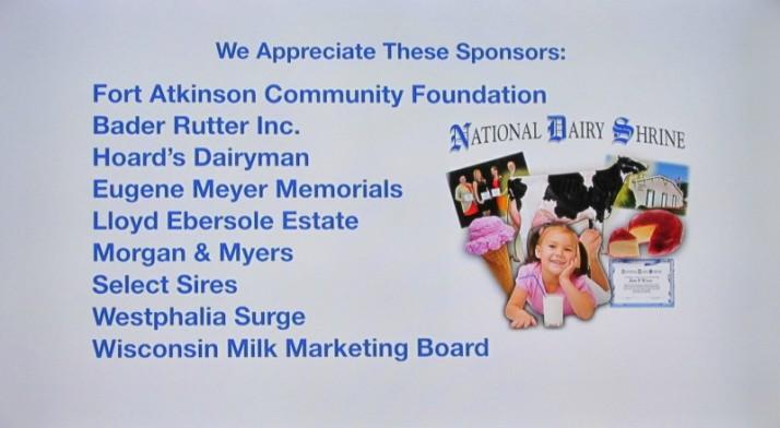 Milk Presentation Sponsors