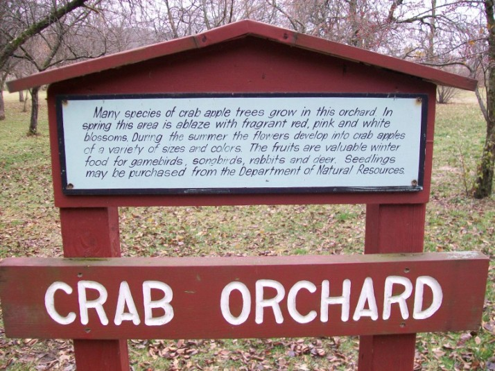 Crab Orchard sign