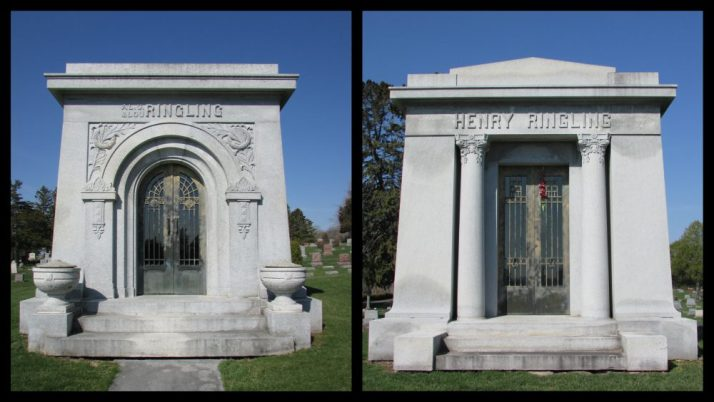 AL and Henry Ringling mausoleums in Baraboo