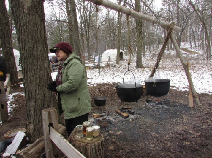 Iron Kettles Boiling Sap at Mackenzie