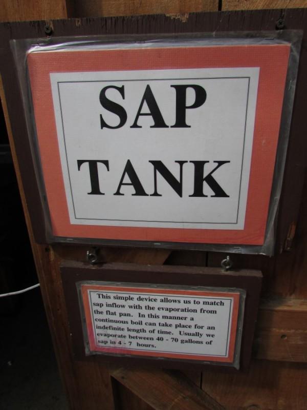Sap Tank at Mackenzie