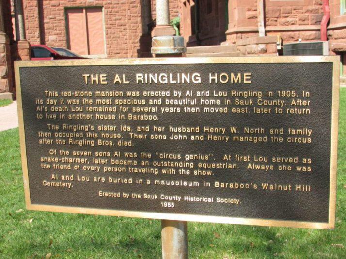 Al Ringling Home sign
