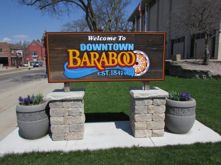 Downtown Baraboo sign