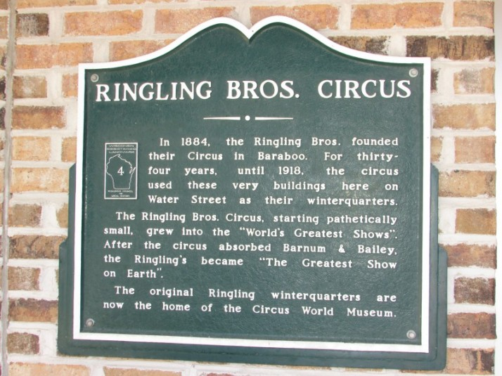 Ringling Brothers plaque at Circus World