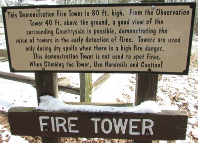 Mackenzie Fire Tower sign 4249