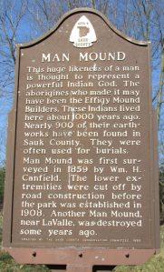 Man Mound Park marker in Baraboo