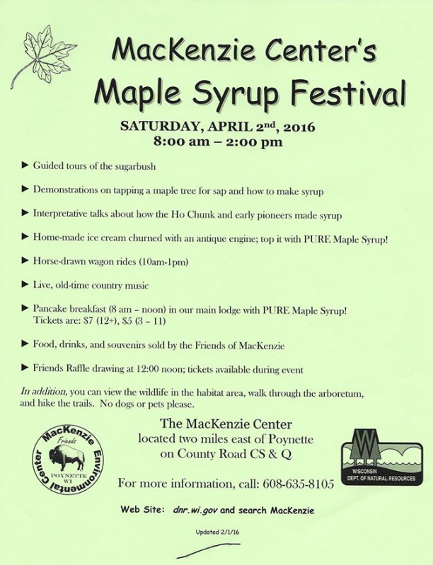 Maple Syrup Festival Events