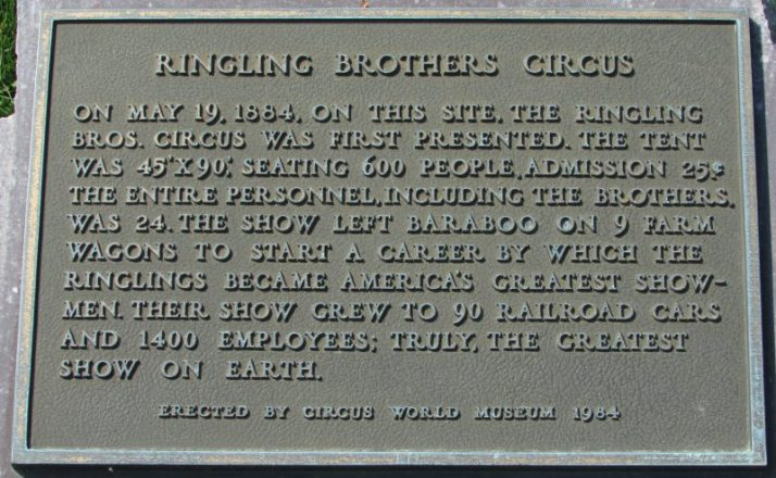 Ringling Brothers Circus Plaque