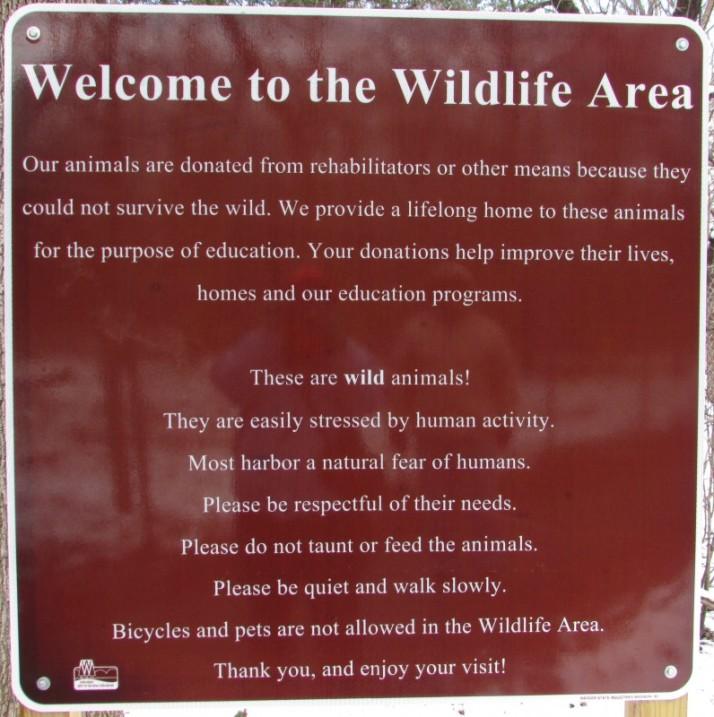 Wildlife Area sign at Mackenzie