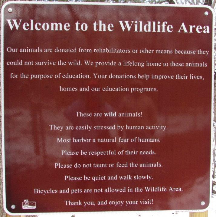 Wildlife Area sign at Mackenzie