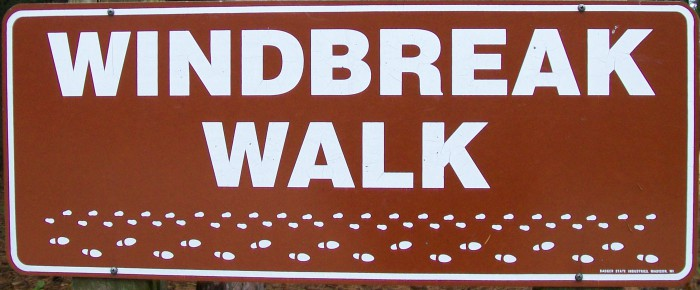 Windbreak Walk sign 2