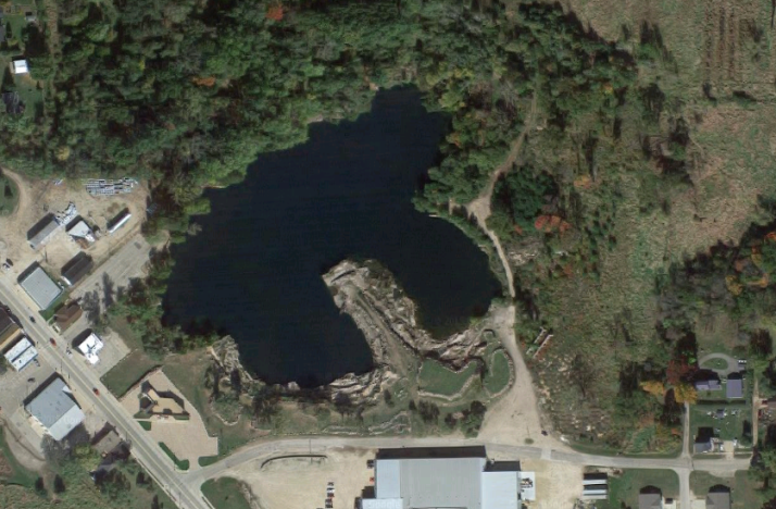 Aerial of Redgranite quarry