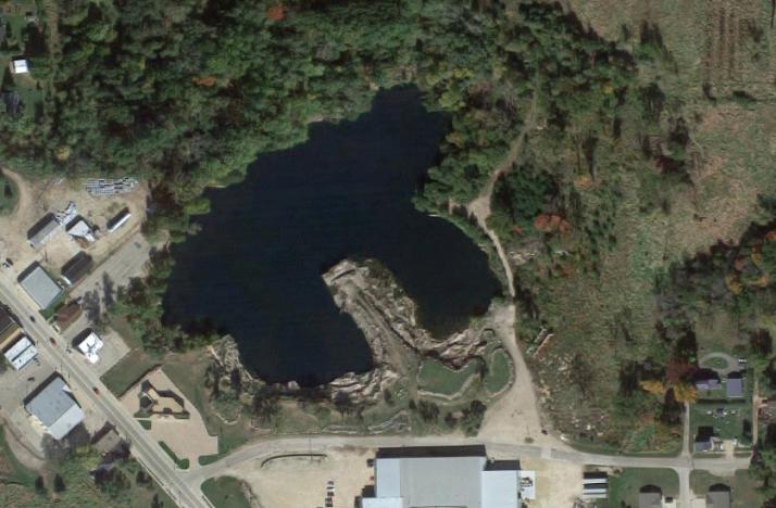 Aerial of Redgranite quarry